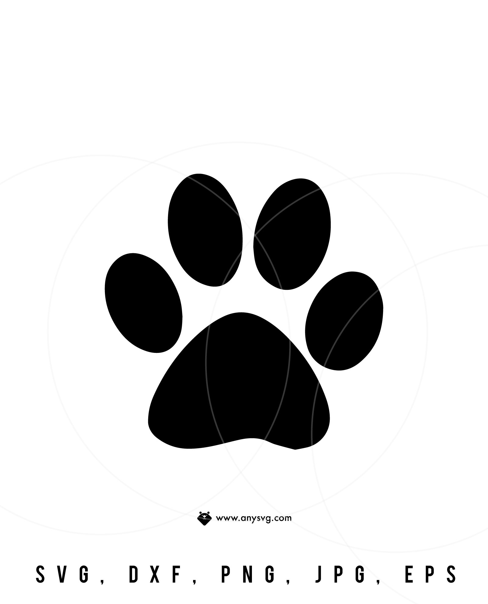Download Paw Print SVG - DXF, PNG & EPS File for Cutting Machines ...
